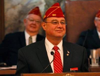 American Legion National Commander Daniel M. Dellinger: Photo credit Legion