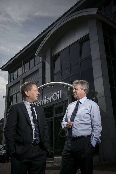 Mike Pritchard, Vice President, Process and Integrity Services, GL Noble Denton (left) and Mike Skitmore, UK Business Unit Manager, Premier Oil.
