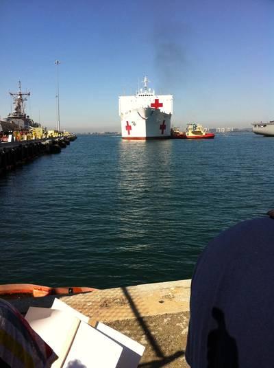 Military Sealift Command hospital ship USNS Mercy (T-AH 20)