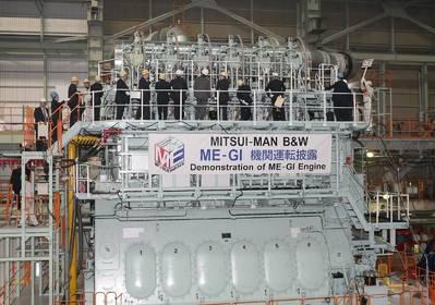 Mitsui MAN B&W 6S70ME-C-GI engine: Photo credit MAN Diesel & Turbo