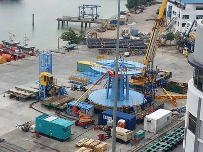 Mobilisation of modular carousel system in Singapore