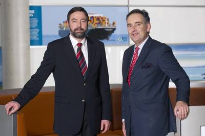 Mr von Oldershausen (right) with GL COO Torsten Schramm