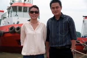 Ms. Tresya and Mr. Rudiyanto with a new-build from the Bahtera Bahari Shipyard. Haig-Brown photos courtesy of Cummins Marine