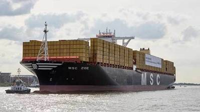 MSC Zoe. Photo: MSC Mediterranean Shipping Company
