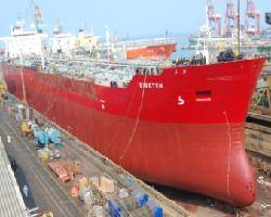 MT. Kirsten accommodated for her repairs in Colombo's 125,000 DWT drydock capacity drydock.