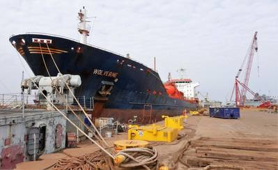 MT Wolverine Safely Moored at International Shipbreaking Ltd, LLC. (Photo: EMR)