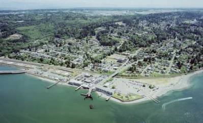 Mukilteo ferry terminal: Photo credit WSDOT