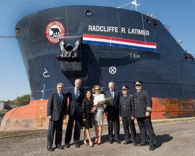 MV Algobay Rename Ceremony: Photo credit Algoma Central Corp.