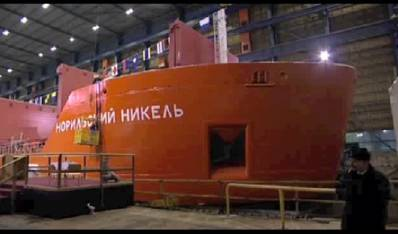 Russian icebreaker construction: Photo courtesy of ABB