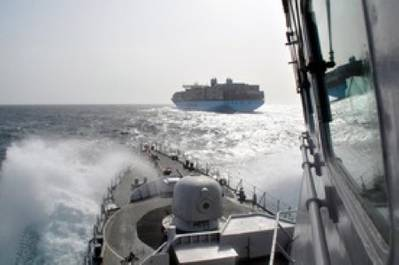 Naval Escort in Gulf of Aden: Photo credit NATO Ocean Shield