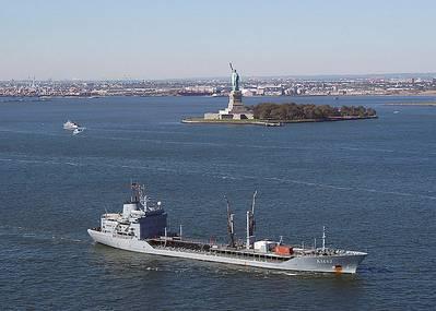 Navigating New York Harbor: Photo courtesy of USN