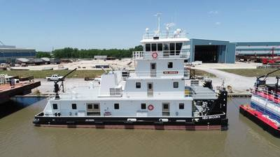 Ned Brooks is the fourth of 15 new towboats C&C Marine and Repair is building for Maritime Partners. (Photo: C&C Marine and Repair)