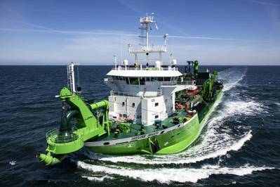 New dredger Meuse River will join the DEME fleet this month (Photo: DEME Group)