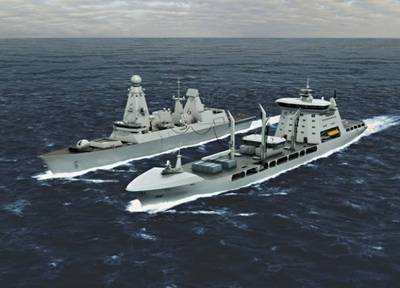 New Tide-class & Type 45 Destroyer: Artist's impression credit MOD