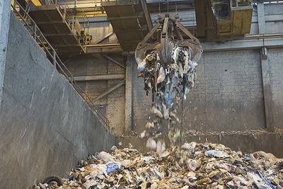 Newport News Shipbuilding provides 70 percent of all the trash converted to energy at the Hampton/NASA steam plant. Photo courtesy of NASA Langley Research Center