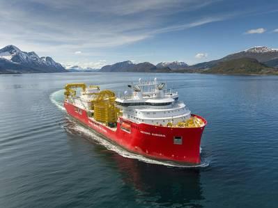 Nexans Aurora on sea trial, photo Per Eide Studio./ via Ulstein