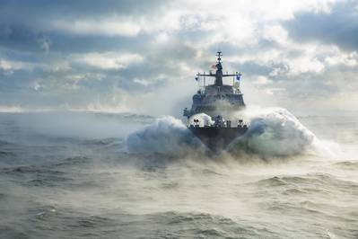 Having recently completed acceptance trials in the Great Lakes, Littoral Combat Ship (LCS) 19, the future USS St. Louis will now undergo final outfitting before delivery to the US Navy early next year. (Photo: Lockheed Martin)