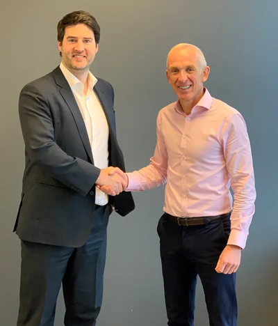 Nicholas Bourque, President of Marine Press (left) and Martin Taylor, Chief Executive Officer of ChartCo (right) (Photo: ChartCo)