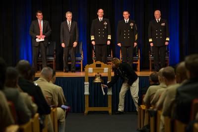 Nine-bell Ringing: Photo credit USN
