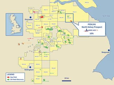 North Kelsey-1 exploration well in Lincolnshire licence PEDL241