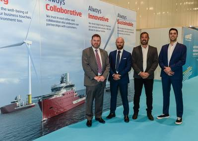 North Star Renewables' Matthew Gordon, Equinor's Luca Daniele, Simon Coote from Alicat and Guido De Mola from Chartwell Marine - Credit: North Star Renewables
