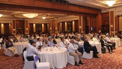 Officers at the Goodwood Ship Management conference in Mumbai this week