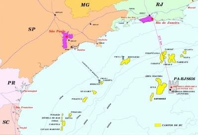 Offshore Brazil Rigs: Image credit Petrobas