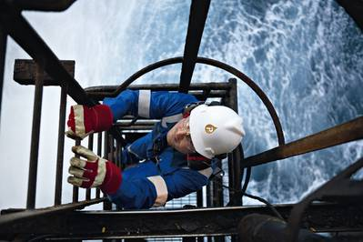 Offshore rig worker: File image