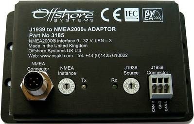 Offshore Systems J1939 to NMEA2000 Adaptor