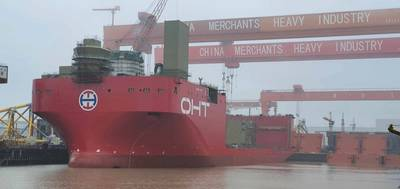 OHT's Alfa Lift float-out at CMHI's shipyard in Jiangsu, China. Photo Source: OHT