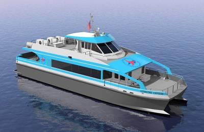 Ocracoke Express Passenger Ferry. Illustration courtesy of Elliott Bay Design Group, Seattle