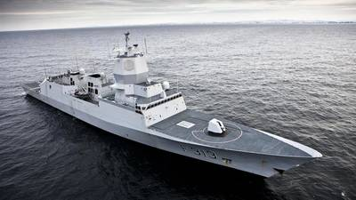 One of Norway's frigates similar to the Helge Ingstad underway. (Image CREDIT: Royal Norwegian Navy)