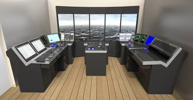 One of the first K-Sim Navigation simulators to be installed May 2015. (Image: Kongsberg Maritime)