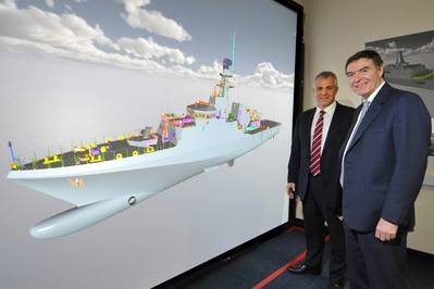 OPV rendering & principals: Photo courtesy of BAE Systems