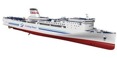 Photo Courtesy Mitsubishi Shipbuilding Co. and Shin Nihonkai Ferry Co.