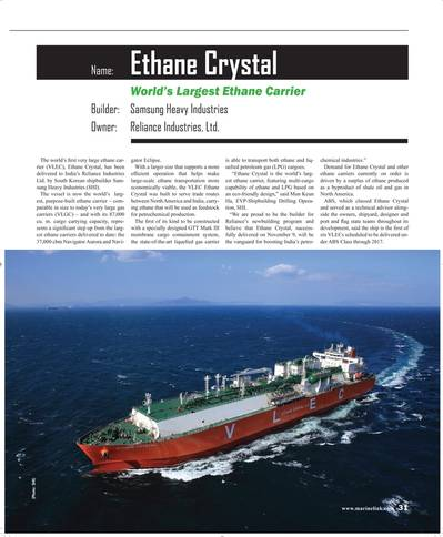 (Source: Maritime Reporter & Engineering News)