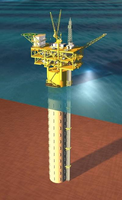 The overall effect diagram of New Buoyant Tower solution with storage (Photo: Wison)