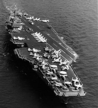 Overhead view of the Nimitz-class (US Navy photo)