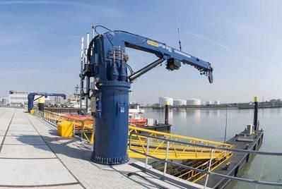 Palfinger's jetty crane - Credit: Palfinger