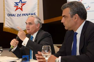 Panama Canal Administrator Jorge L. Quijano & Spanish Ambassador to Panama, Jesus Silva: Photo courtesy of ACP