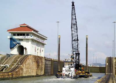 Panama Canal Lock: Photo credit ACP