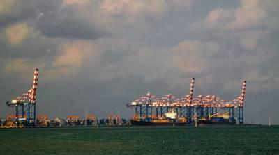 Panorama of Djibouti port with ships and cargo crane - Credit: homocosmicos/AdobeStock