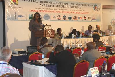 Participants at the opening ceremony of the African Maritime meeting held in Mombasa, Kenya.