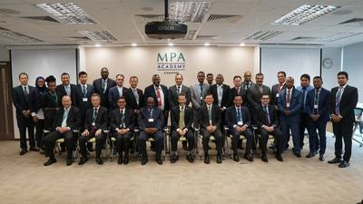 Participants with embassy and industry representatives at 5th Port Management Programme. Photo: Maritime and Port Authority of Singapore