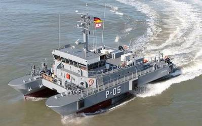 Patrol Boat 'Skrunda': Photo credit Abeking & Rasmussen