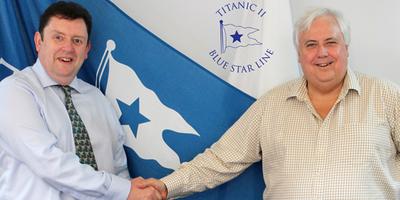 Paul Nicholas & Clive Palmer: Photo credit Blue Star Line