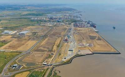 Pentalver's new site located next to London Gateway's port gates (Photo: London Port Authority)