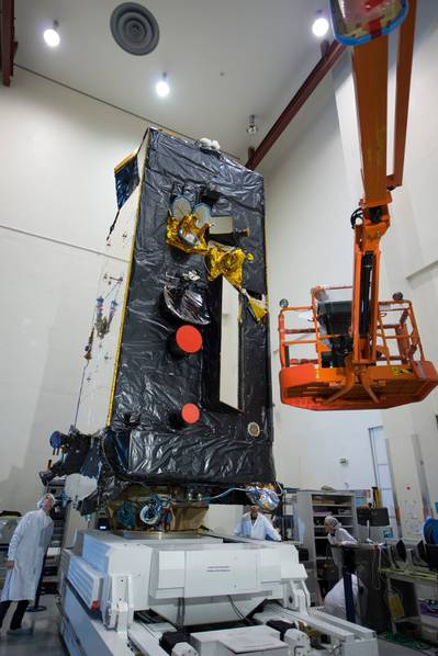 Alphasat preparation: Photo credit Inmarsat