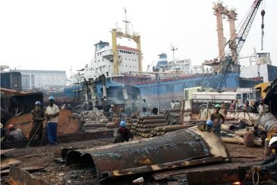 Photo courtesy of the NGO Shipbreaking Platform