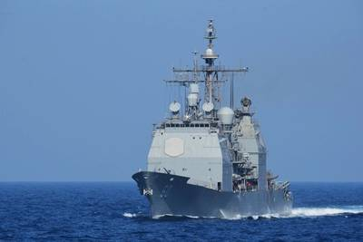 Photo: Official U.S. Navy file photo of the guided-missile cruiser USS Normandy (CG 60).